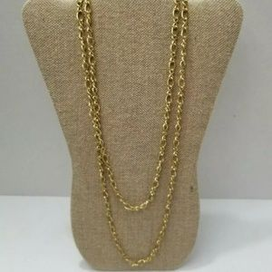 Monet Vintage Gold Tone Curb Style Link Chain